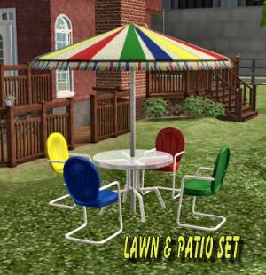mod the sims patio set retro metal