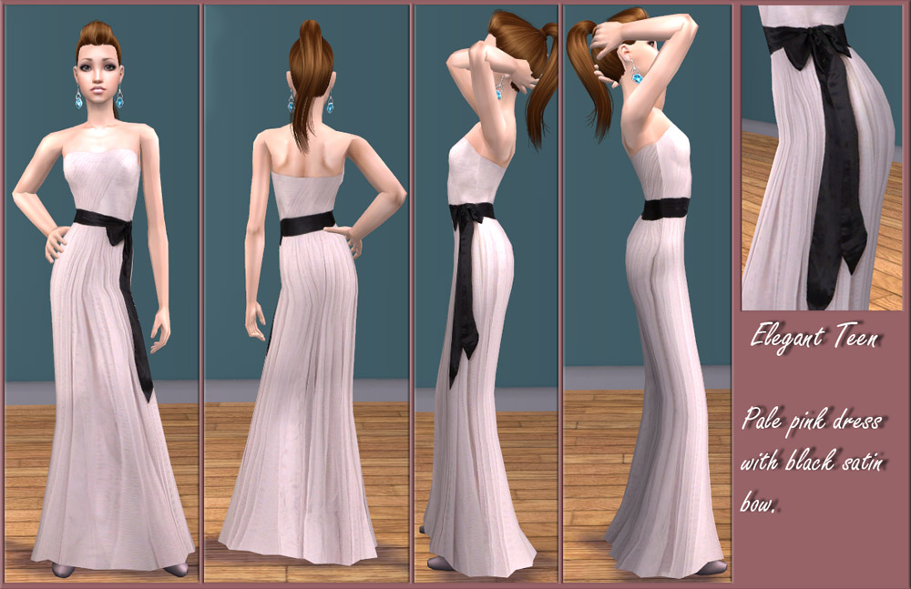 Mod The Sims Elegant Teen Two Formal Dresses