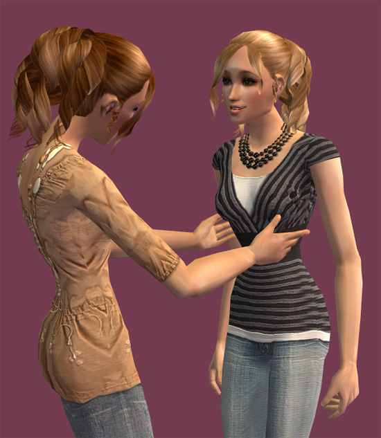 Mod The Sims Nouk 060607 Curl Hair Curly Ponytail