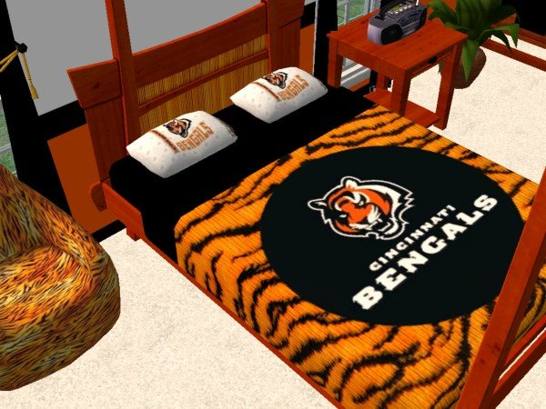 Mod The Sims Cincinnati Bengals Bedroom For Luke92