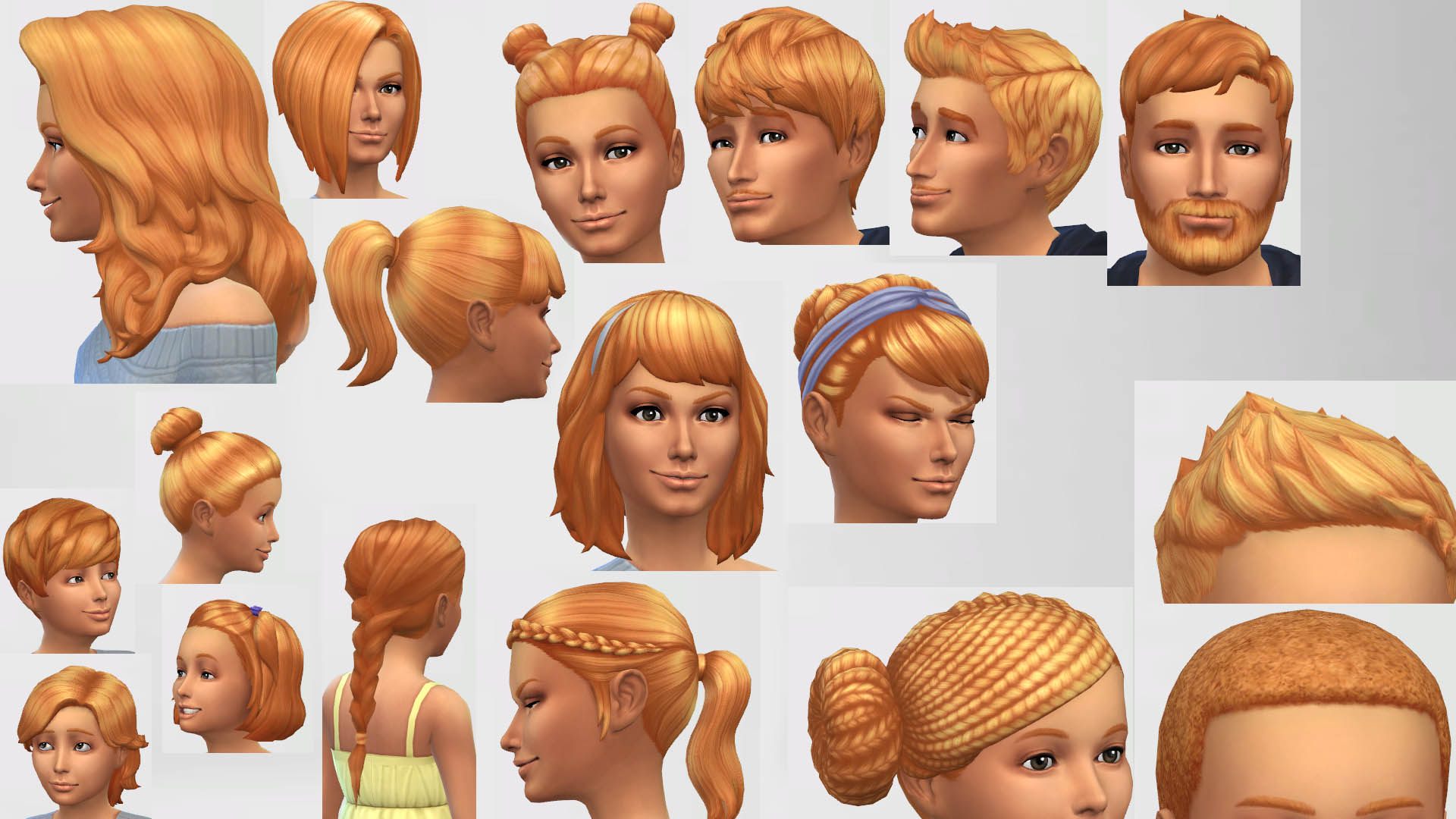 Mod The Sims Sunset Hair Colour Non Default Updated
