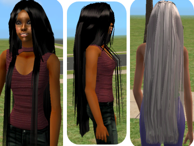 Mod The Sims Mezmerizing Hair Animated Extra Long