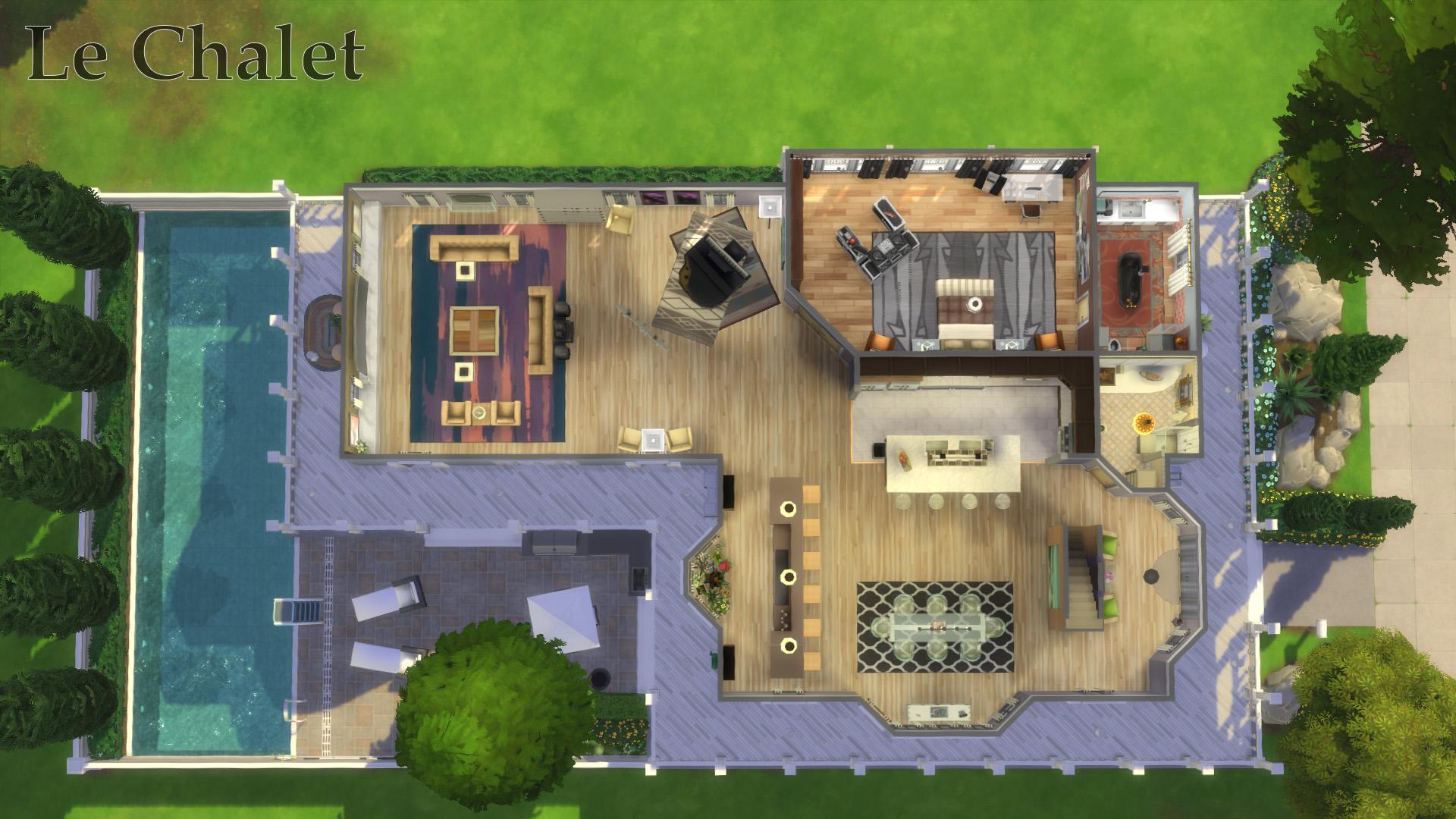 Mod The Sims Le Chalet No Cc