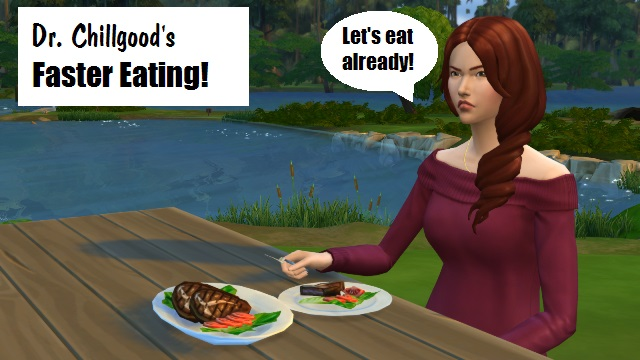 Sims  Faster Eating And Drinking
