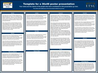 ppt 48x48 poster template poster title line author and