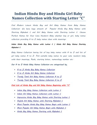 Indian Hindu Baby Girl Names Starting With Letter T