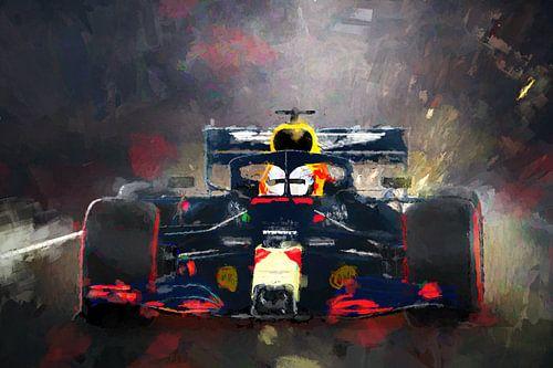 Red Bull Max Verstappen geschilderde regen race