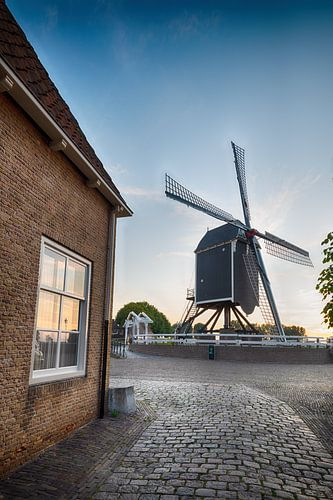 Straat en molen in Heusden