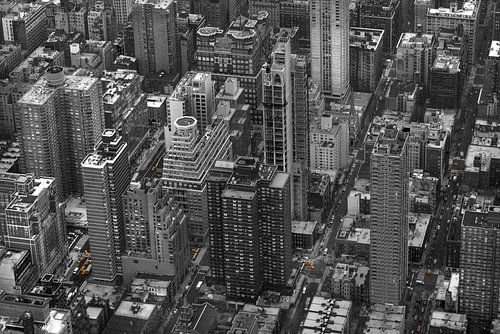 New York Yellow Cabs vanuit de lucht!