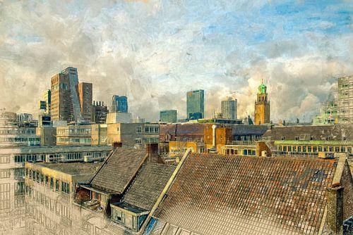 Geschilderde Rotterdamse daken I