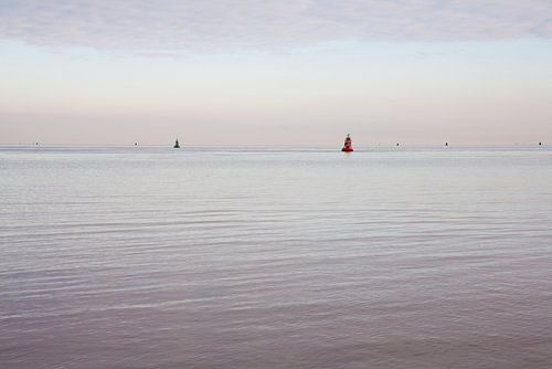 Stilte op de waddenzee