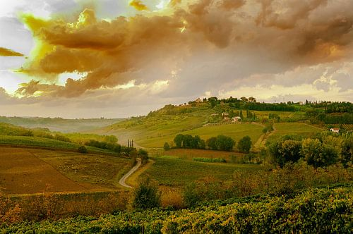 #Toscane, zonsondergang