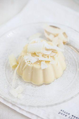 Panna cotta van witte chocolade & kokos