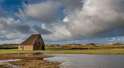 Texel boerderij met hollandse lucht (panorama)