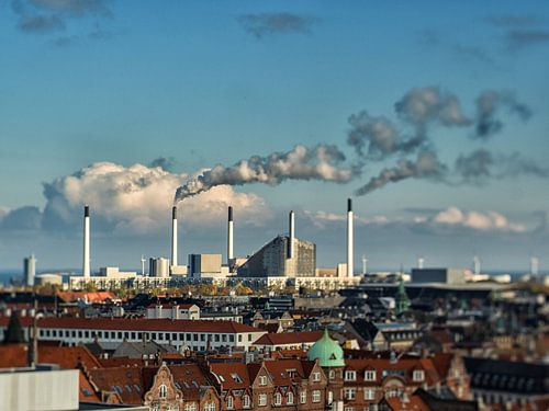 The rooftops of Copenhagen