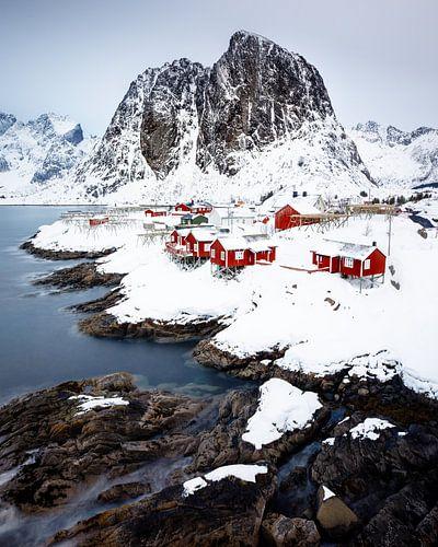 Het uitzicht van Hamnøy