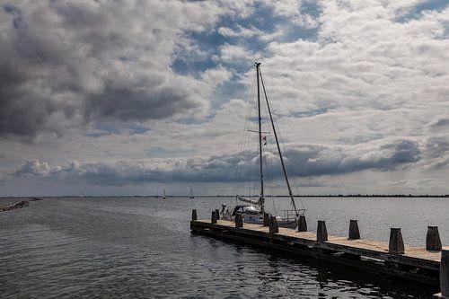 Typische Hollandse zomer wolken lucht