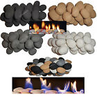 15 Stones for gas fire 4 colors replacement coals/pebbles White/Black/Grey/Beige