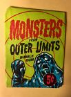 BUBBLES INC 1964 MONSTERS FROM OUTER LIMITS  WAX PACK WRAPPER.-NICE CONDITION