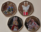 2016 2017 2018 coloured 50p Beatrix Potter coin collection Jemima Puddle Duck