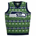 Seattle Seahawks Aztec Print Ugly Holiday Sweater Vest Mens XXL 2XL Brand New