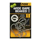 Fox Edges Wide Gape Beaked X Hooks *All Sizes* NEW Fishing Micro Barbed Hooks