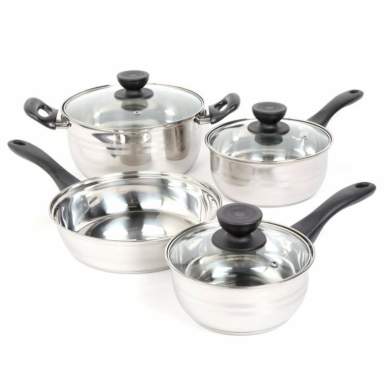 Cookware Set Pots Pans Non Stick Stainless Steel Piece Cooking