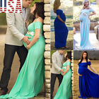US Pregnant Women Lace Maxi Long Dress Maternity Gown Photography Photo Shoot