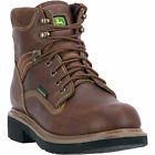 John Deere Mens Brown Leather 6in WP ST Lace-Up Work Boots