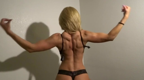 Female Body Builder Goddess Raptures first Muscle Making Video CBDmedia 720p