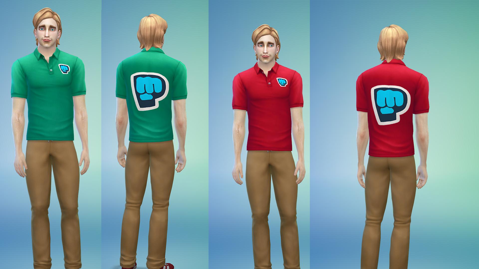Pewdiepie Bro-fist Logo Tshirts- Blood Red