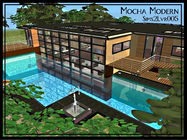 Mod The Sims Mocha Modern Furnished Or Unfurnished