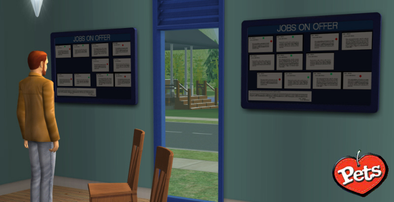 mod the sims job seeking noticeboard