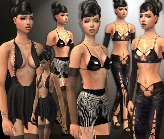 Mod The Sims  Black Sexy Outfits