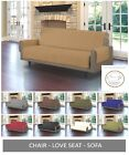 Quilted Microfiber Pet Dog Couch Sofa Furniture Protector Cover w/ Tucks & Strap