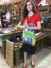 Boho Hippy Gypsy Summer Dresses Tie Dye Embroidered Colorful Rayon Dress  L