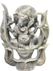 "12"" GOOD LUCK GANESHA STATUE HAND CARVED STONE GARDEN SCULPTURE RELIGIOUS GIFT"