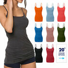 Women's Cami Tank Top Tops Long Layering Casual Basic Camisole Plain Plus S -3XL