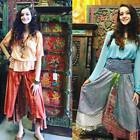 Sunshine  2 in 1 Summer Dress and Maxi Skirts Recycled Vintage Sari 2 Layer S