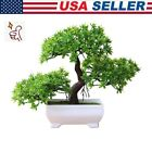 Simulation Pine Fake Potted Bonsai Tree Artificial Plant Office Desk Home Decor