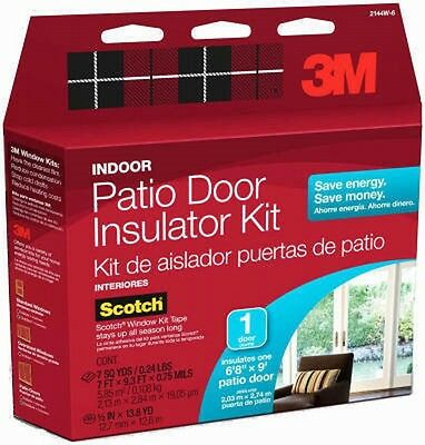 3m 1 Patio Door Indoor Insulator Film Kit 3M Indoor Patio Door