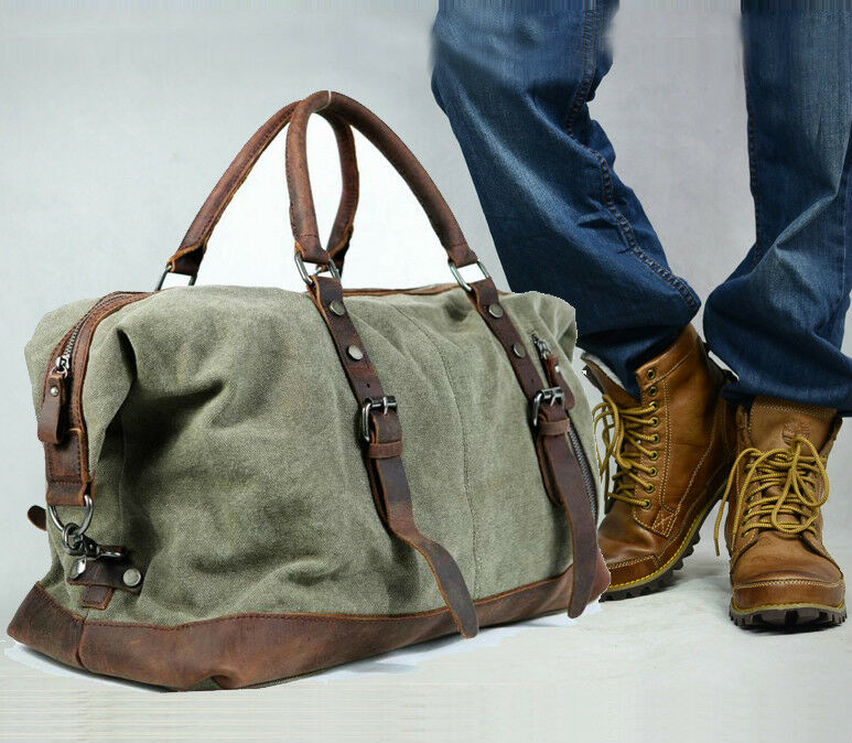 vintage retro men genuine leather canvas duffle weekend bag bmw z3 office chair jpg