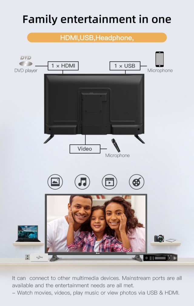 HOHO 24 Inch FHD LED TV - Piano Black