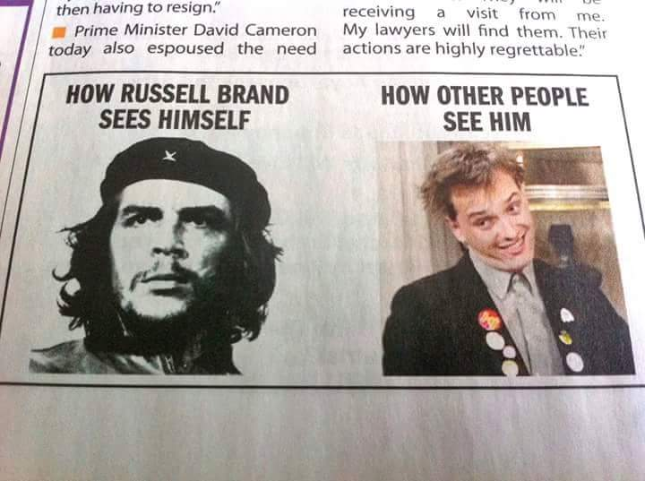 Image result for how Russell Brand sees himself