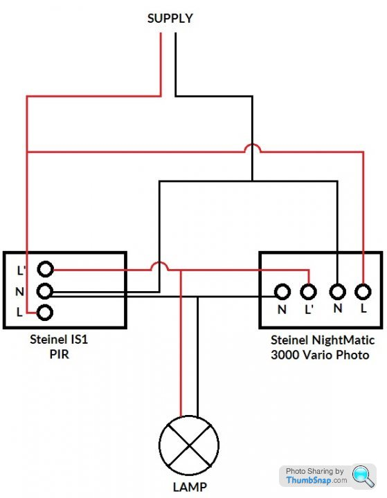 wiring pir and photo cell in parallel  page 1  homes