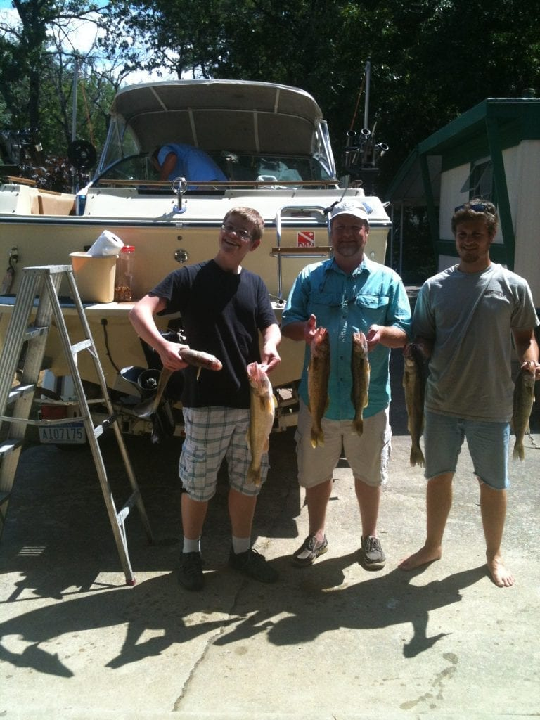 Walleye Fishing in Saginaw Bay Clean Up