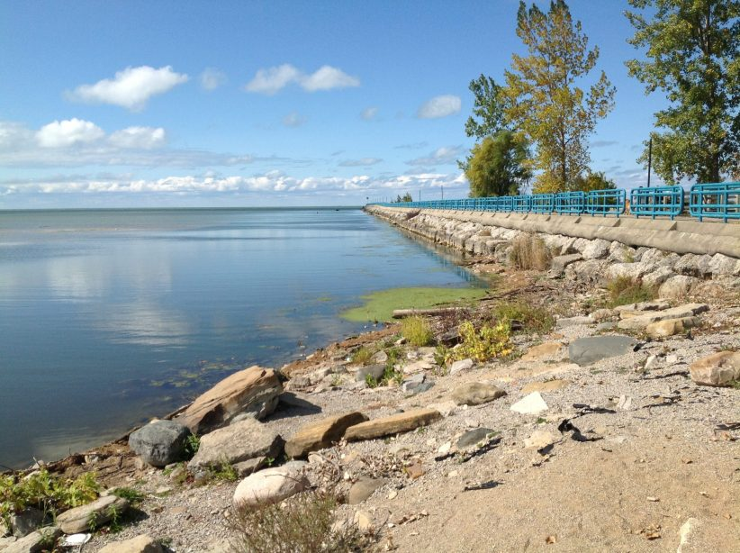 Low Water Make Narrow Channel At Caseville Harbor