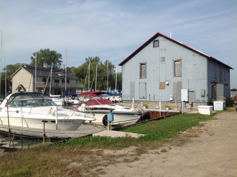 Bay Port Fish Co. Ice House - Caseville Harbor in the Fall