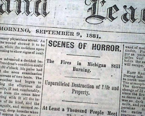 1881 Michigan Fire News