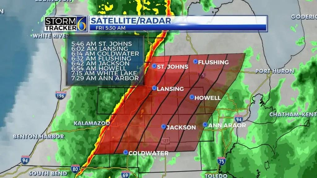 Weather Radar Map of Michigan